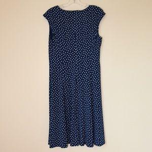 Liz Clairborne Navy/White Polka Dot Dress